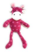 Spark Create Imagine - Sleepy Baby Pink Polka Dot Sock Knit GIRAFFE Plush Stuffed Animal Toy 28cm