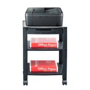 Mind Reader ' Classify' 3 shelf Mobile Printer Cart with Cord Management, Black