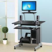 Ktaxon Computer Desk PC Laptop Table Study Workstation Home Office Furniture w/ Printer,On Wheels