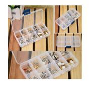 Sinfu Storage Case Box Holder Container Pills Jewellery Nail Art Tips 10 Grids