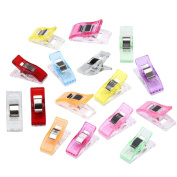 Sinfu 50pc Colourful Sewing Craft Quilt Binding Plastic Clips Clamps Pack