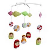 Baby Crib Mobile, Music Box Baby Gift Musical Mobile, Colourful Decor