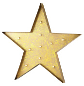 Antique Yellow Star Marquee Sign
