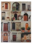 Door Collage Ii-Door Collage Photography Printed On Glass