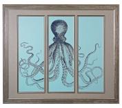Octopus Tryptich - Fine Art Giclee Under Glass