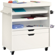 Sauder Select Craft Storage Cart, White