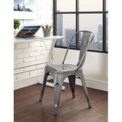 Antiqued Metal Stack-able Bistro Chairs, Assorted Colours