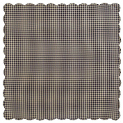 VHC Brands Cheque Scalloped Table Cloth