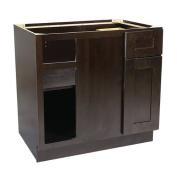 Design House 562116 Brookings 90cm Blind Base Cabinet, Espresso Shaker
