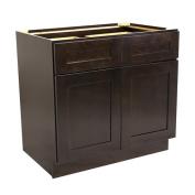 Design House 561993 Brookings 90cm Base Cabinet, Espresso Shaker