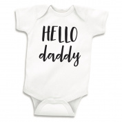 Hello Daddy Surprise Pregnancy Announcement to Husband, Newborn Bodysuit
