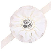 RuiChy Girls Chiffon Pearl Headband Baby Hairband