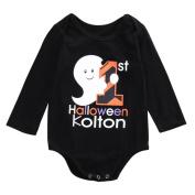 Newborn Romper Printed, Keepfit Halloween Pumpkin Jumpsuit Little Devil Long Sleeve Girls and Boy Playsuits