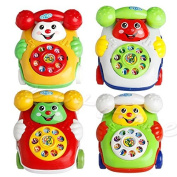 EA-STONE Baby Toys Music Cartoon Phone Educational Developmental Kids Toy Gift New