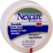 3M Healthcare Durapore Silk-like Cloth First Aid Surgical Tape 1 x 10 yds, Hypoallergenic Adhesive, Water Resistant, Latex-free (Roll of 1 Each) by 3M Healthcare Corp