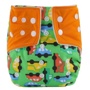 Sunward Newborn Baby Double Rows of Snaps Fitted Pocket Washable Adjustable Cloth Nappy