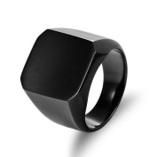 New Solid Polished Stainless Steel Band Biker Men Signet Ring