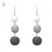 Fashion Spherical Style Tassel Dangle Stud Earrings