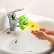 Woolf's House Cute Frog Shape Bathroom Sink Faucet Extender Washing Device for Children Kid Baby Washing Hand