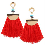 Women Long Tassels Fringe Boho Dangle Earrings Fashion Bohemian Earrings