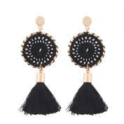 Women Bohemian Vintage Long Tassel Fringe Boho Dangle Earrings