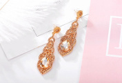 Prettymenny Women Crystal Wedding Earrings Bridal Long Earrings
