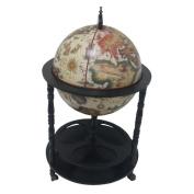 Merske LLC Firenze Italian Style 3 Leg Floor Globe Bar