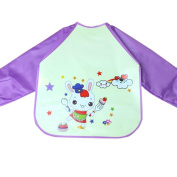 Staron Waterproof Long Sleeve Baby Bibs,Baby Cartoon Anti-Stains Drool Bibs Lightweight Bandana Feeding Art Apron