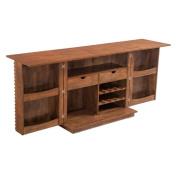 Brika Home Bar Cabinet in Walnut
