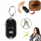 Portable Mini LED Key Finder Locator Find Lost Keys Chain Keychain Whistle Sound Control