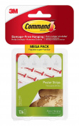 Command Poster Strips Mega-Pack 136 Strips, White