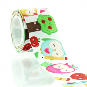 3.8cm Kawaii School Owls Grosgrain Ribbon 5yd