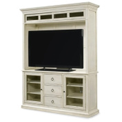 Beaumont Lane Entertainment Console with Deck in Cotton
