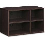 Furinno Indo Petite Audio Video Storage Shelf, Espresso