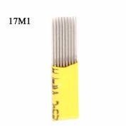 Double Raw 17 Pins Microblading Shading Needle 100Pcs Eyebrow Tattoo Shader 17M1 Waterproof Eyebrow Makeup - QMYBrow