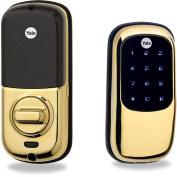 Yale YRD240 Touchscreen Keyless Deadbolt with Z-Wave Technology, Polished Brass