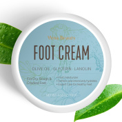 Foot Cream, Foot Moisturiser- Softens And Intensively Hydrates For Thick, Cracked, Rough, Dead and Dry Skin With Olive Oil