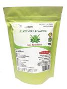 mi nature Aloevera Powder (Aloe barbadenis) / 100% Pure, Natural and Organic (227g / (1/2 lb) / 240mls) - Resealable Zip Lock Pouch