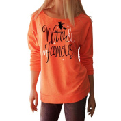 Halloween Pullover, AMA(TM) Women Witch Letters Print Long Sleeve Tops Blouse T Shirt Casual Sweatshirt Hoodie