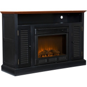 Wiltshire Fireplace Media Console, Black**BOX 1
