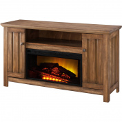 Prokonian 130cm Driftwood Media Fireplace for TVs up to 130cm