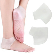 Dr.Pedi Heel Protector sleeve unisex Silicone moisturising heel sock cracked Skin pain relieve pedicure by Dr.Pedi