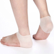 AnHua.1 Pair Silicone Moisturising Gel Heel Protector Sock Cracked Foot Care Pain Relief Anti-cracking Cushion Pad (White) by Healtheveryday