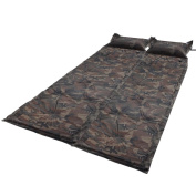 GHP 180cm x 110cm Waterproof Camouflage 2 Self-Inflating Mattresses w Inflatable Pillows