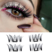 Magnetic Eye Lashes,Promisen Magic Reusable Ultra-thin 0.4mm 3D False Magnet Eyelashes Extension