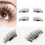 Binmer(TM) Ultra-thin 0.2mm Magnetic Eye Lashes 3D Reusable False Magnet Eyelashes Extension