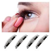 Magnetic Eyelashes,Hunzed Natural Ultra-thin Eyelashes 3D Reusable Handmade False Magnet Eye Lashes Makeup Tool