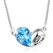 "Angelady"" Love Knot"" Pendant Necklace Engraved""Love""for Women Girls Birthday Gift, Crystal from"