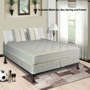 Continental Sleep Mattress, Fully Assembled Mattress and Box Spring with Frame, King