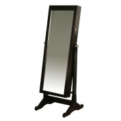 Richards Homewares Jewellery Espresso Standing Armoire with Led Light